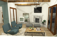 Online design Modern Living Room by Jéssica D. thumbnail