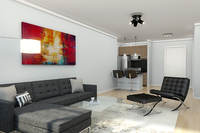 Online design Modern Living Room by Picharat A.  thumbnail