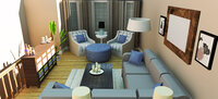 Online design Transitional Living Room by Shannon M thumbnail