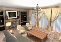 Online design Traditional Living Room by Sharon C. thumbnail