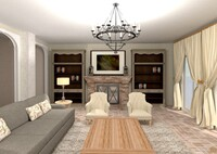 Online design Transitional Living Room by Sharon C. thumbnail