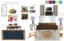 Eclectic Living Room Transformation Hannah C. Moodboard 1 thumb