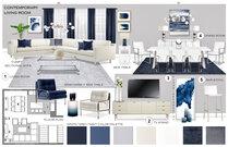 Navy Accents for Contemporary Living Room Rajna S. Moodboard 1 thumb