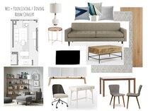 Contemporary neutral living dining room Lynda N Moodboard 2 thumb