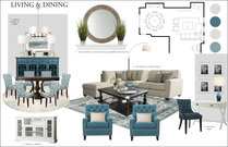 Neutral Transitional Living/Dining Room Design With Blue Accents Rachel H. Moodboard 2 thumb