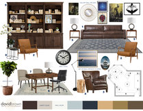 Sleek & Masculine Therapy Office Laura A. Moodboard 2 thumb