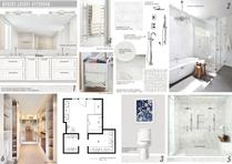 White Clean Master Bathroom Picharat A.  Moodboard 2 thumb