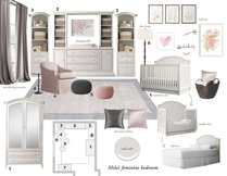 Contemporary Nursery Design  Laura A. Moodboard 3 thumb