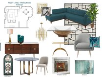 Eclectic Transitional Living Space Design Lynda N Moodboard 2 thumb