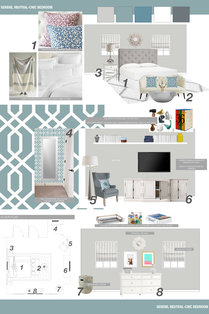 Transitional with Neutral Colors Master Bedroom Lauren B. Moodboard 1 thumb