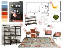 Nook Home Office Transformation  Jennifer A.  Moodboard 1 thumb