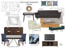 Mid century modern living room and study transformation Lynda N Moodboard 1 thumb