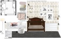 Girl Nursery Room Cayla S. Moodboard 2 thumb