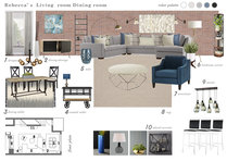 Contemporary Combine Living/Dining Transformation Marina S. Moodboard 2 thumb