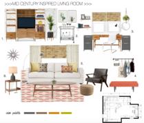 Modern Refresh for My Living Room  Christine M. Moodboard 1 thumb