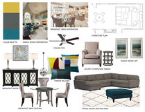 Modern and Traditional Livingroom  Jennifer A.  Moodboard 1 thumb