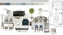 Contemporary Living Room in Muted Tones Marcy G. Moodboard 2 thumb