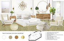 Cozy contemporary master bedroom & kids room Michelle B.  Moodboard 2 thumb