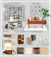 Multifunctional Small Home Office  Devin S. Moodboard 1 thumb