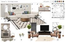 Modern Family Room & Foyer Transformation Marina S. Moodboard 1 thumb