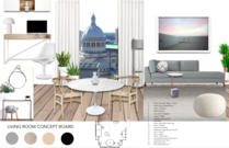 White Contemporary Living Room Michelle B.  Moodboard 1 thumb