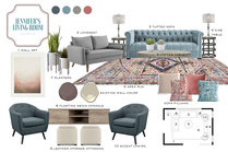 Transitional Comfortbale Living Room in Brown and Grey Tones MaryBeth C. Moodboard 1 thumb