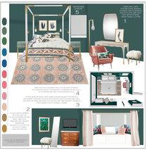 Femenine glamour bedroom Sonia C. Moodboard 2 thumb