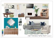 Kid Friendly Multi Purpose Family Room Design Christine M. Moodboard 2 thumb