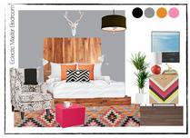 Aprils Fun & Eclectic Bedroom Christine M. Moodboard 1 thumb