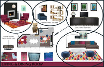 Beautiful, Multi Functional Lounge Design Rachel H. Moodboard 1 thumb