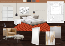 Red Details Bedroom Transformation  Britney M. Moodboard 2 thumb