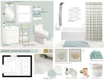 Modern and Sleek White Bathroom Design Picharat A.  Moodboard 2 thumb