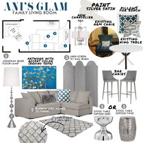 Transitional Living Room and Bedroom Taron H. Moodboard 1 thumb