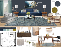 Midcentury Modern Living Dining Picharat A.  Moodboard 1 thumb