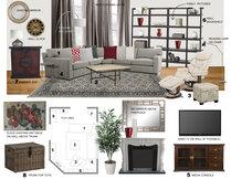 Warm, Transitional Living Room Laura A. Moodboard 1 thumb