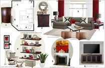 Warm, Transitional Living Room Rachel H. Moodboard 2 thumb