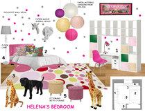 Jills pink girls room design Laura A. Moodboard 1 thumb