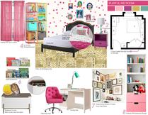 Jills pink girls room design Picharat A.  Moodboard 2 thumb