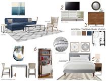 Stylish living room Narathas P. Moodboard 1 thumb