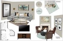 Transitional Living room & Kitchen Rachel H. Moodboard 1 thumb
