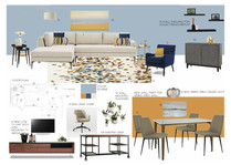 Modern Living, dining and bedroom design Pragati N Moodboard 2 thumb