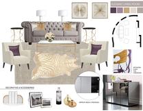 Elegant Living Room Design Picharat A.  Moodboard 2 thumb