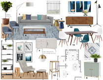 Hollys Bright Living/ Dining Room Laura A. Moodboard 2 thumb