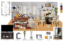 Bohemian Living Room Interior Design Robiel H. Moodboard 1 thumb
