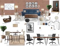 Mid century modern office design help Narathas P. Moodboard 2 thumb
