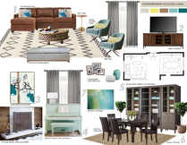 Eclectic and Cozy Living Room Transformation Picharat A.  Moodboard 2 thumb
