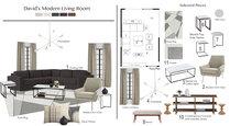 Clean, Simple Living Room Tiara M. Moodboard 2 thumb