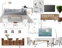 Sophisticated Combined Living/ Dining Room Laura A. Moodboard 1 thumb