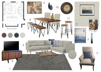 Sophisticated Combined Living/ Dining Room Anna T Moodboard 2 thumb