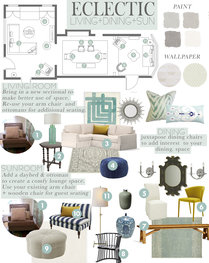 Rustic/Eclectic Dining and Living Design Taron H. Moodboard 1 thumb